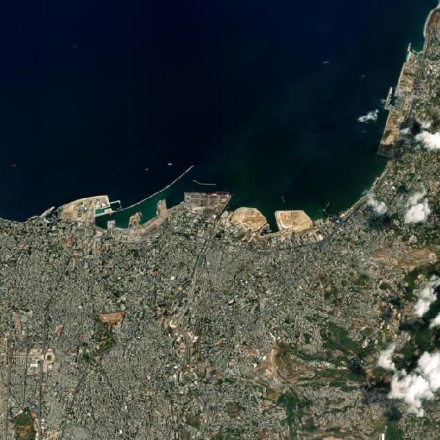 beiroet explosie satellietbeeld