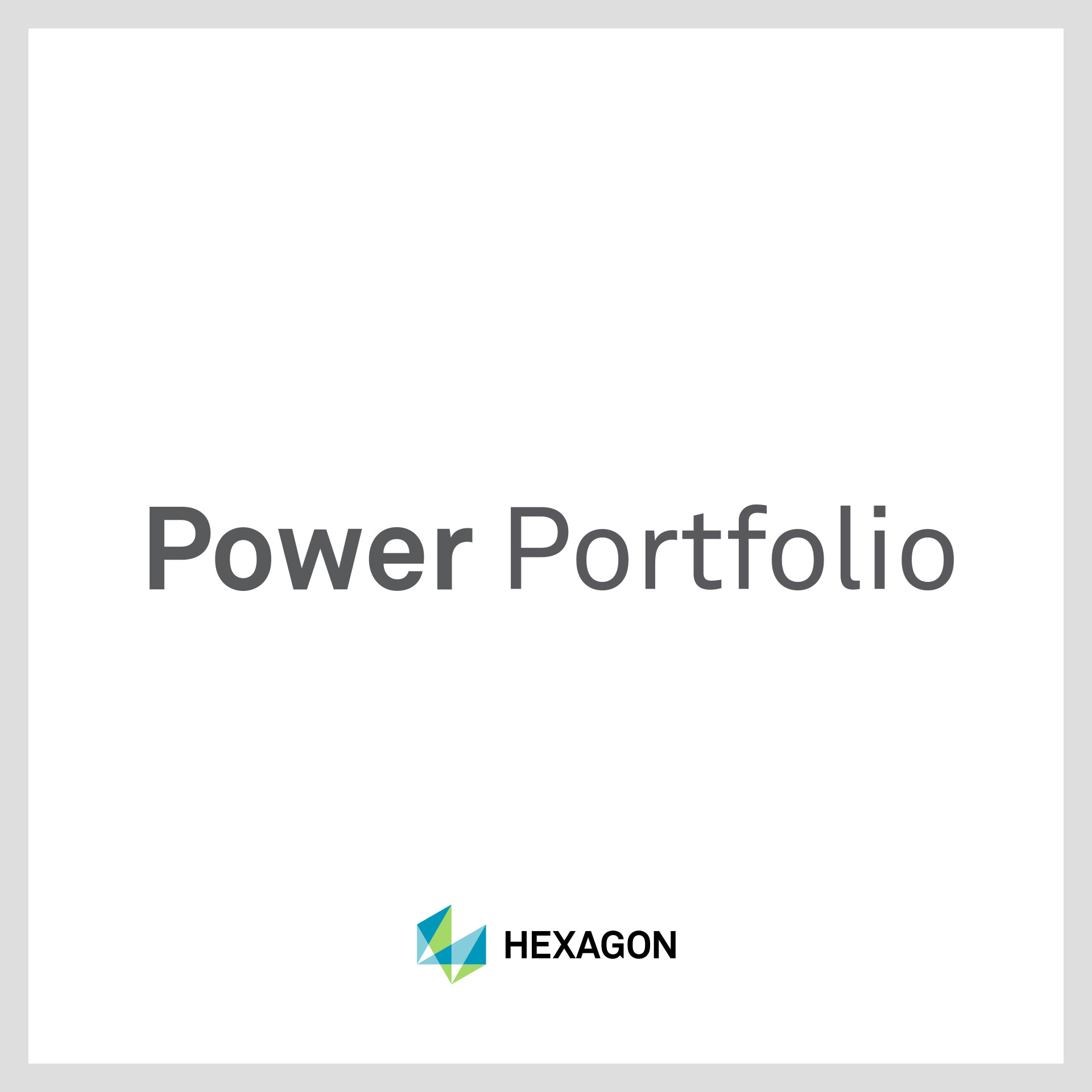Power portfolio technologie
